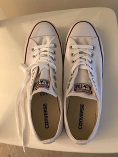 72277980f10fe White Converse All Star Chuck Taylor Low Top Unisex New Never Used #fashion  #clothing