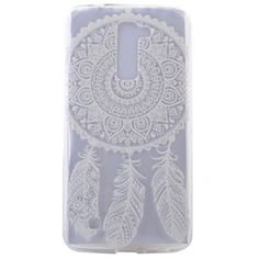 LG K10 Case,5.3 inch,Angelan® Ultra [Slim Fit] Lightweight TPU Bumper Scratches Resistant Protection Case Design For 5.3 inch LG K10 (2016 Release) (white dreamcatcher)