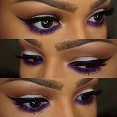 Royal purple eyeliner