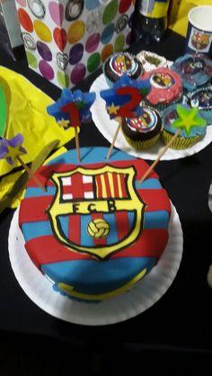 Soccer cake for FC Barcelona Theme