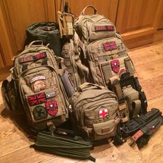 My Complete Bug Out Bag 5.11 Rush 72, Moab 10 & 6 w. Radio, Leg Rig, and Assorted Knives  2 Person Bug Out Bag 72hrs +