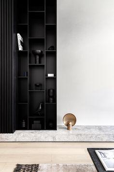 Architecture Restaurant, Interior Architecture, Living Room Inspiration, Interior Inspiration, Bibliotheque Design, Shelving Design, Wall Decor Design, Minimalist Apartment, Rack Design