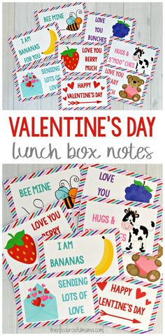 These Valentine's Day lunch box notes will make your child's lunch extra special. Kids love opening their lunch box and finding special note. #valentinesday #lunchboxnotes