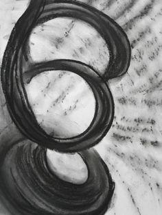 """""""Atonal"""", Charcoal on paper 30cm x 42cm, by Steven de Ciantis, 1997"""