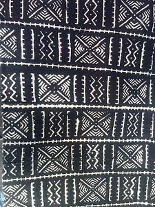 Mali New Blk Mud Cloths Africa Hand Made in Textiles 5 41 ft x 3 5 Ft | eBay