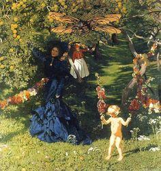 Strange Garden, Józef Mehoffer, oil on canvas, National Museum in Warsaw Louise Ebel, Great Paintings, Victorian Art, Art Nouveau, National Museum, Female Art, Art Museum, Art History, Art Gallery