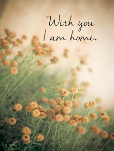 With you ...