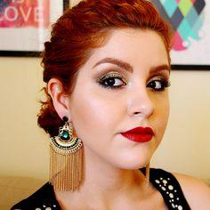 0 video tutorial maquiagem baile de formatura casamento glitter dourado classica daianne possoly 2