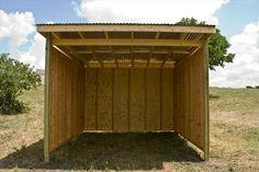 DIY Easy Horse Shelter