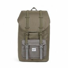 383007c2967 Herschel Little America Mid backpack 25L Ivy Green Smoked Pearl  fashion   clothing