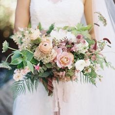 stunning bouquet in soft pastels