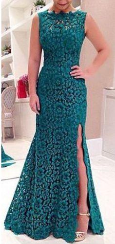Long Prom Dress, Lace Prom Dress, Teal Prom Dress, Prom Dress, Custom Prom Dress on Luulla Teal Prom Dresses, Mermaid Prom Dresses Lace, Backless Prom Dresses, Formal Evening Dresses, Dress Prom, Dress Lace, Party Dresses, Lace Maxi, Formal Prom