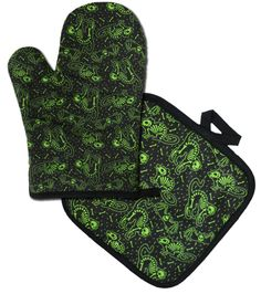 Cats & Bats, Skeleton oven mitts  Available thru www.DeadRockers.net