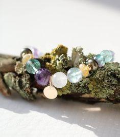 62-Bracelet chips onyx ou agate noire-Lithothérapie-soin par les cristaux
