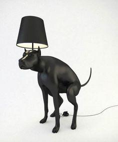 Pooping Dog Lamp.