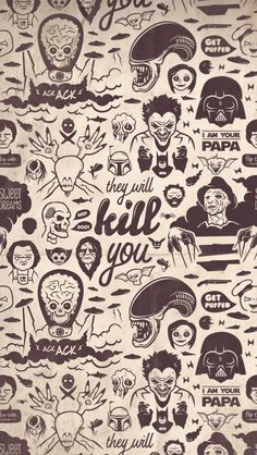 Movie Villains Collection They Will Kill You Android iPhone Wallpaper Background Lockscreen HD Funny Iphone Wallpaper, Halloween Wallpaper Iphone, Cellphone Wallpaper, Wallpaper Gallery, Fall Wallpaper, Gothic Wallpaper, Tumblr Backgrounds, Wallpaper Backgrounds, Wallpaper Ideas