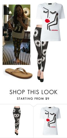 """My OOTD"" by mack-et-la-mode ❤ liked on Polyvore featuring Dsquared2 and Rainbow"