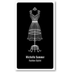Fashion Stylist Business Card by coolbusinesscards #EasyNip