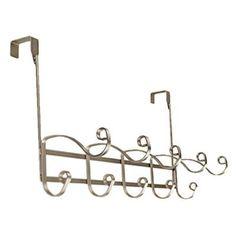 Richards Homewares Verona Over the Door 5 Hook Rack Color: Satin Nickel