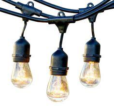 String Patio Lights 48 ft. - 24 Sockets - Commercial Grade