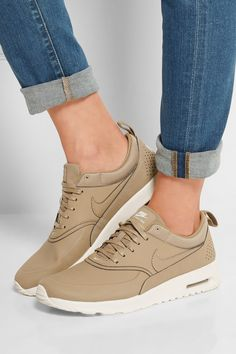 Nike | Air Max Thea leather sneakers | NET-A-PORTER.COM