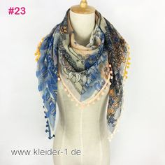 Damen Schal 110x100cm in Blau