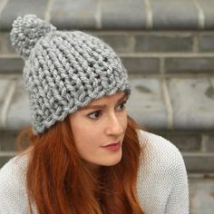 Flat Knit Chunky Hat Knitting Pattern