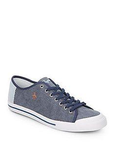 Mens Penguin Blink Plimsolls Off White Summer Casual Slip On Sneakers 41QO5G6LS