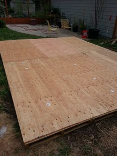 Dance Floor. Pallets and plywood and screws