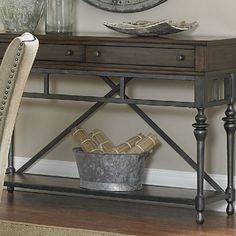 Elegant yet casual Ivy Park offers a weathered hone finish combined with a beautiful turned leg metal base finished in a silver pewter.Feature...