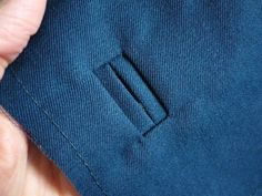 Tutorial - Bound button holes. Looks great! Seems achievable - maybe on my work jacket?