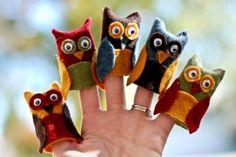 títeres de dedo de papel lechuza o búho - Buscar con Google