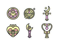 Sailor Moon Icons by Paloma Castro on Dribbble Sailor Moon Tattoos, Sailor Moons, Sailor Saturn, Sailor Moon Art, Sailor Venus, Sailor Scouts, Fanarts Anime, Manga Anime, Tattoo Mond