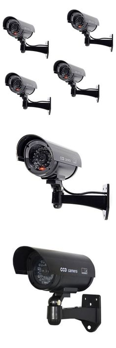 Dummy Cameras: 4 X Fake Dummy Security Cctv Camera Waterproof Ir Led Black Surveillance Jq -> BUY IT NOW ONLY: $32.95 on eBay!
