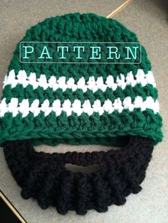 PDF PATTERN   Crochet Beard Hat  Size 1 to 3 years. by BusyFamilyLife Like our Facebook page! https://www.facebook.com/pages/Rustic-Farmhouse-Decor/636679889706127
