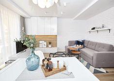 Metamorfoza mieszkania w bloku z wielkiej płyty   PLN Design Bathroom Radiators, Outdoor Furniture Sets, Outdoor Decor, Bathroom Design Small, Minimalist, Inspiration, Living Room, Bedroom, Kitchen