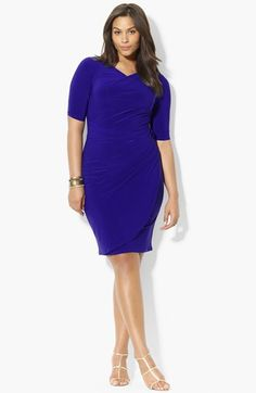 Lauren Ralph Lauren Jersey Sheath Dress (Plus Size) available at #Nordstrom
