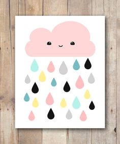 Print It Yourself 8x10 Kawaii Cloud INSTANT DIGITAL DOWNLOAD $5