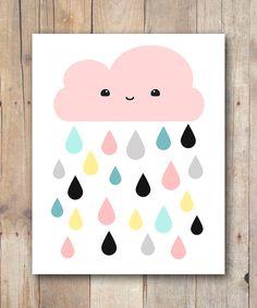Print It Yourself 8x10 Kawaii Cloud INSTANT DIGITAL DOWNLOAD $5