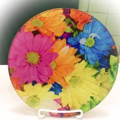 Glass Flower Trivet Kitchen Gift Hotplate Daisy by CasaDeVero