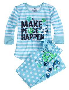 Peace Panda Pajama Sleep Set | Pant Sets | Pajamas | Shop Justice