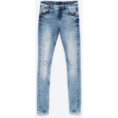 Zara Distressed Jeans (330 NOK) ❤ liked on Polyvore