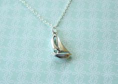 The Sterling Silver Sailboat Necklace  simple by TwoLittleDoves, $28.50