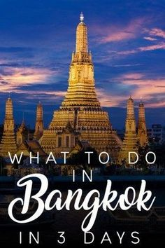 What to do in Bangkok Thailand in 3 Days Travel Vacation List Holiday Tour Trip Destinations Thailand Destinations, Thailand Travel Guide, Bangkok Travel, Visit Thailand, Bangkok Thailand, Asia Travel, Solo Travel, Travel Destinations, Bangkok Trip