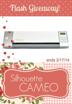 Enter to win a Silhouette CAMEO here: http://www.craftaholicsanonymous.net/flash-silhouette-cameo-valentines-day-giveaway #giveaway #silhouette #cameo