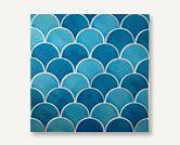 Azul Series Fish Scale Handmade Tile