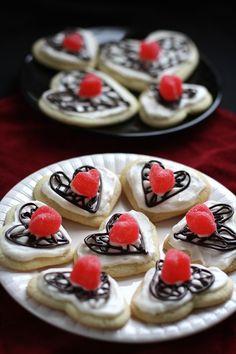 Valentine's Chocolate Lattice Sugar Cookies