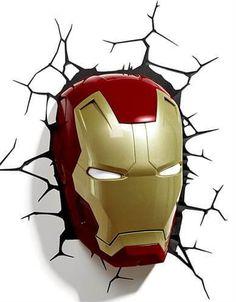 Marvel avengers iron man mask deco light ironman wall night led lamp for kids Marvel Avengers, Iron Man Marvel, Marvel Comics, Avengers Cartoon, Avengers Alliance, 3d Deco Light, 3d Light, Iron Men, Costume Iron Man