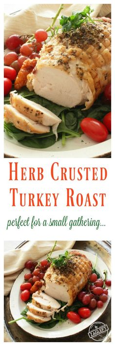 Herb Crusted Turkey Roast - perfect for serving a small group. | Visit www.zagleft.com for other single serving recipes.
