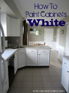 All about painting our cabinets white. Can't stand the orangey oak in our house!!